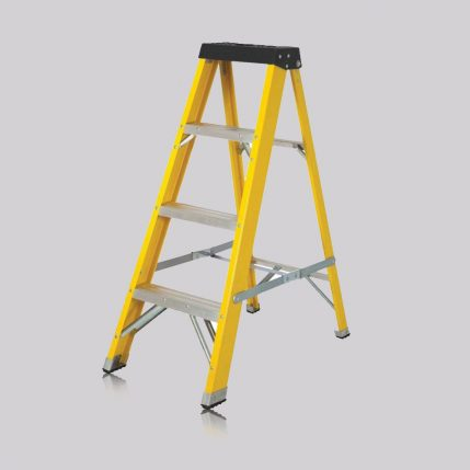 Excel 1-03M Heavy Duty Electricians Fiberglass Step Ladder 4 Tread EX4STEPE