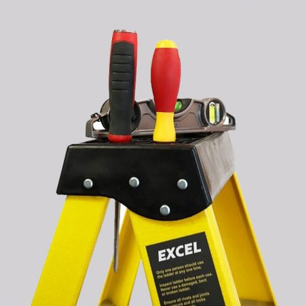 Excel 1-56M Heavy Duty Electricians Fiberglass Step Ladder 6 Tread EX6STEP-1