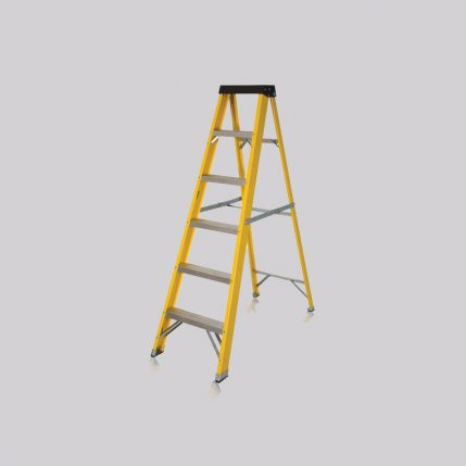Excel 1-56M Heavy Duty Electricians Fiberglass Step Ladder 6 Tread EX6STEP