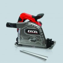 Excel 165mm Plunge Saw 1400W 240V with 1 5M Aluminum Excel Guide Rail