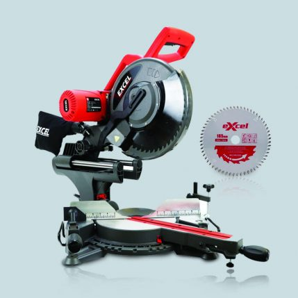 Excel 216mm Mitre Saw 1500W Sliding Single Bevel 240V With 24T Blade