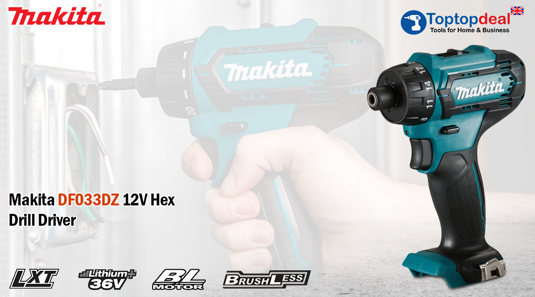 12V Brushless Drill Driver – Makita DF033DZ Toptopdeal topdeal