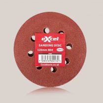 Toptopdeal Excel Sanding Disc 125mm 80G Pack of 10