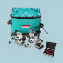 Toptopdeal-Makita RT0700CX2 1 4 Router Trimmer & Bases 110V with 12 Piece Cutter Set