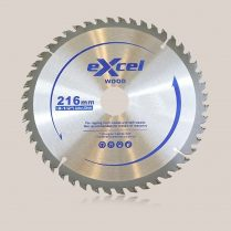 Toptopdeal uk Excel 216mm x 30mm x 60T TCT Circular Saw Blades for Wood EX216X60TSB