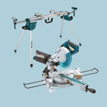 Toptopdeal uk Makita LS0815FLN 216mm Sliding Compound Mitre Saw With DEAWST06 Stand 240V