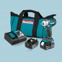 "Makita XWT14T 18V LXT® Lithium‑Ion Brushless Cordless 4‑Speed 1/2"" Sq. Drive Impact Wrench Kit w/ Friction Ring Anvil (5.0Ah)"