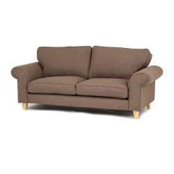 Abakus-Direct-Angie-3-Seater,-2-Seater-Sofa-Settee,-Armchair-or-Love-Seat,-Cuddle-Chair-in-Sand-Brown-(3-Seater)