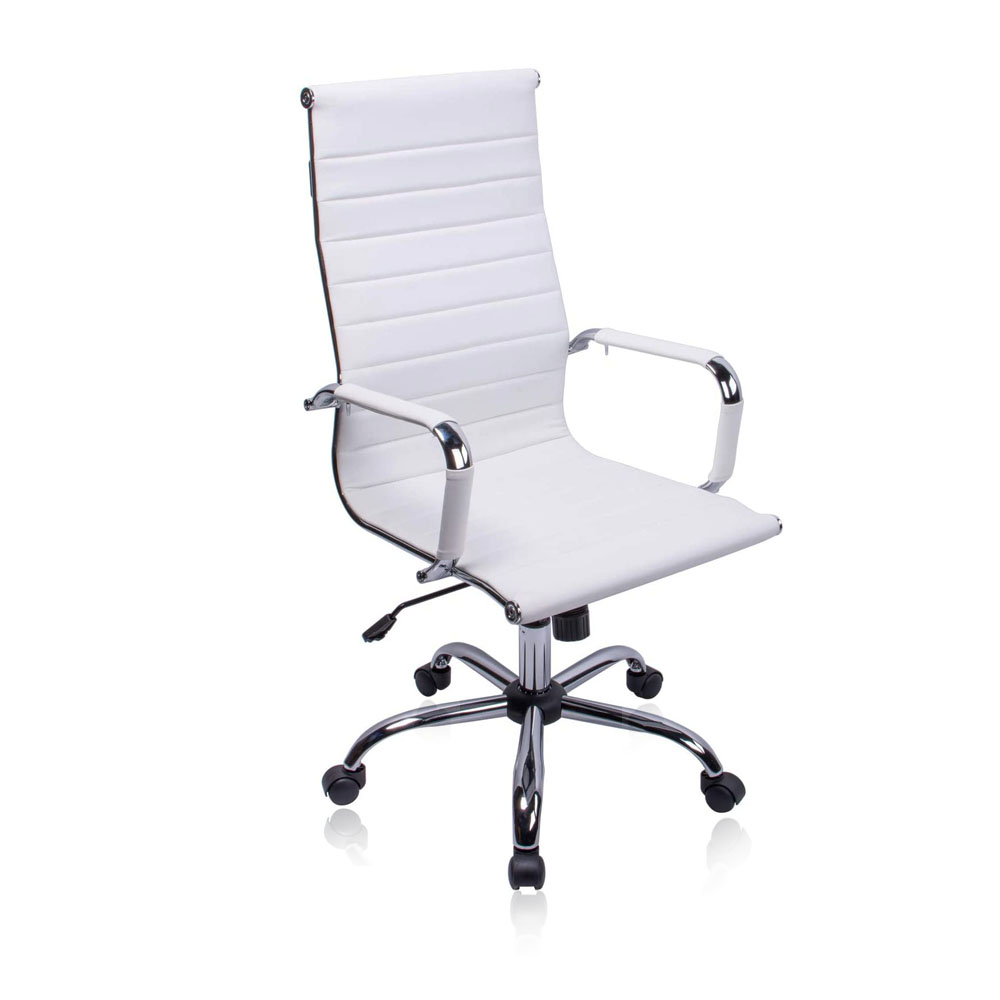 Exofcer High Curved Back PU leather Home Office Chair Executive Computer Height Adjustable Swivel Desk Chair