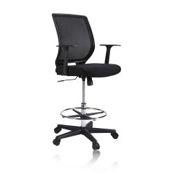 Toptopdeal HAPFIY Mesh Drafting Stool Chair, Tall Standing Chair