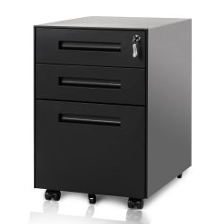 Life Carver 3 Drawer Steel Metal Filing Cabinet with Embedded Handle and Lock