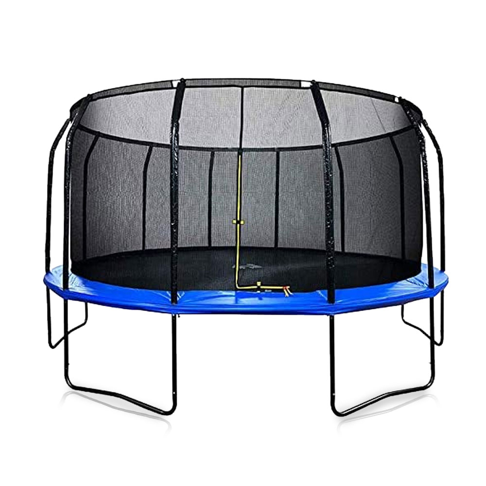 Toptopdeal-Air-League-16ft-Powder-Coated-Trampoline-&-Enclosure-Blue