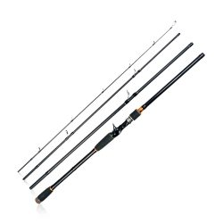 Toptopdeal JOHNCOO Travel Rod Spinning Fishing Rod 4 Section Carbon
