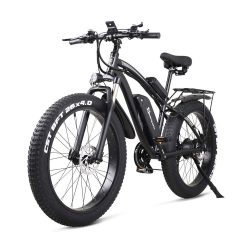 Toptopdeal Sheng milo 26 Inch Fat Tire Electric Bike 48V 1000W Motor Snow Electric Bicycle with Shimano