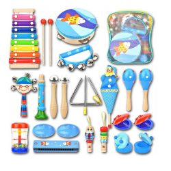 Toptopdeal-Wesimplelife-Toddlers-Wooden-Musical-Instruments-Toys-Set