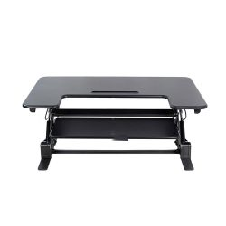 VIVO-Black-Height-Adjustable-36-inch-Stand-up-Desk-Converter,-Quick-Sit-to-Stand-Tabletop-Monitor-Riser