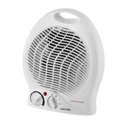 Toptopdeal-Warmlite-Portable-Upright-Fan-Heater,-Adjustable-Thermostat,-Overheat-Protection,-2-Heat-Settings-1000-2000-W,-White