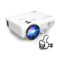 Toptopdeal-ukDR.Q-HI-04-Projector-with-Projection-Screen-1080P-Full-HD-Supported,-Upgraded-6000-Lumen-Video-Projector-Compatible-with-TV-Stick-PS4-HDMI-USB-AV-for-Home-Cinema-&-Outdoor-Movie,-White.