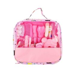 toptopdeal Baby Nail Care Kit 13PCS Deluxe Health and Grooming Kit Nail Care Set Personal Daily Cleaning Care Tool Bag for Infants Newborns Kids Boys and Girls