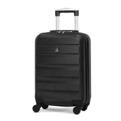Toptopdeal-Aerolite-Lightweight-55cm-Hard-Shell-4-Wheel-Travel-Carry-On-Hand-Cabin-Luggage-Suitcase-Black-Approved-for-easyJet-British-Airways-Ryanair