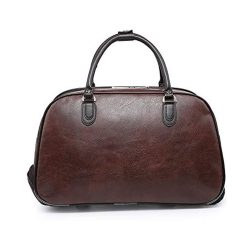 Toptopdeal-Craze-London-Ladies-Travel-Holdall-Bags-Hand-Luggage-Womens-Leather-Cabin-Luggage-Bag-Design-Weekend-Wheeled-Trolley-Bags