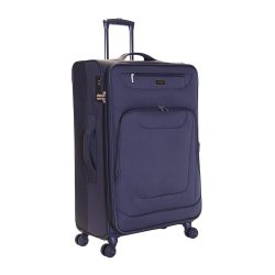 Toptopdeal-Karabar-Medium-Large-Expandable-Suitcase-Luggage-Bag-Lightweight-68-cm-3.5-kg-70-litres-Soft-Shell-with-4-Spinner-Wheels-and-Integrated-TSA-Number-Lock,-Mayfair-Grey