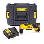toptopdeal Dewalt DCD740C1 18v XR 2 Speed Right Angle Drill Lithium -1 Battery Charger Case