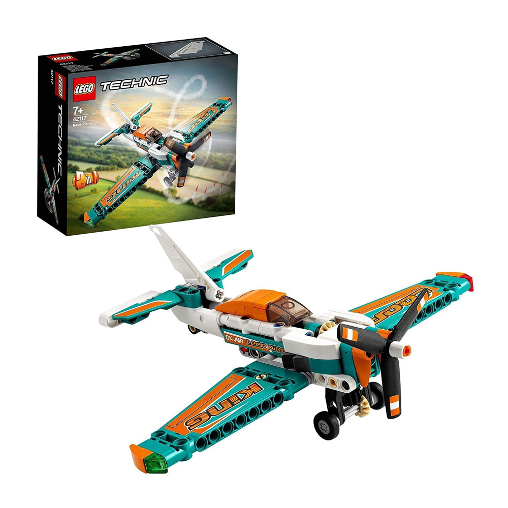 toptopdeal LEGO 42117 Technic Race Plane Toy to Jet Aeroplane 2 in 1 Building Set for Kids 7 Years Old