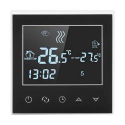 toptopdeal Asixx WiFi Thermostat- Programmable Thermostat Wireless Heating Thermostat Digital Thermostat with LCD Touch Screen for Motorized Valve- Thermal Valve and