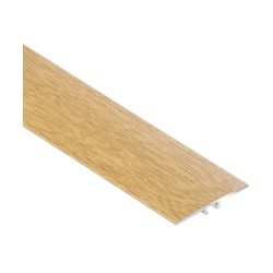 toptopdeal CEZAR W-AL-LWP35-DS-090 Protective Strip Rail-ransition Profile Flat with Laminate-Wood Decoration Elegant Oak with Dowels 35 mm