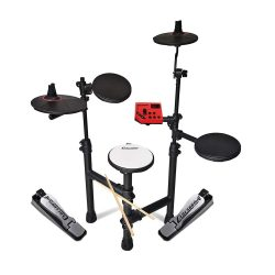toptopdeal Carlsbro Club 100 Electric Drum Kit 5-Piece Electronic Digital Set with Drum Sticks Foldable Jazz Club Big Band Silent Quiet Practice
