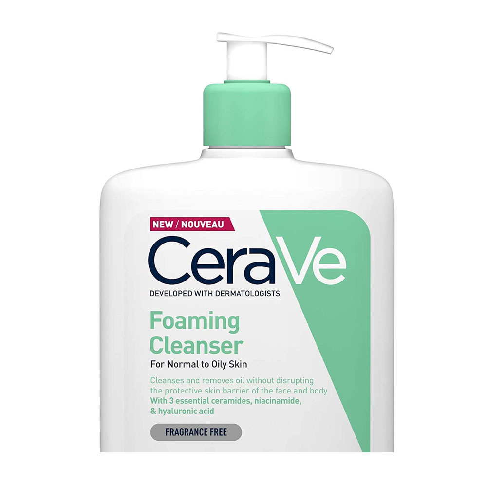toptopdeal CeraVe Foaming Cleanser -1L-35oz -Family-sized Face- Body & Hand Wash with Niacinamide