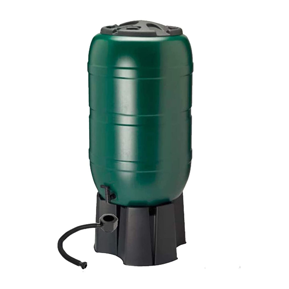 toptopdeal Dawsons Living 210 Litre Garden Water Butt Set - Including Tap with Filling Stand and Filler Kit - Tight Fitting Lid - 210L