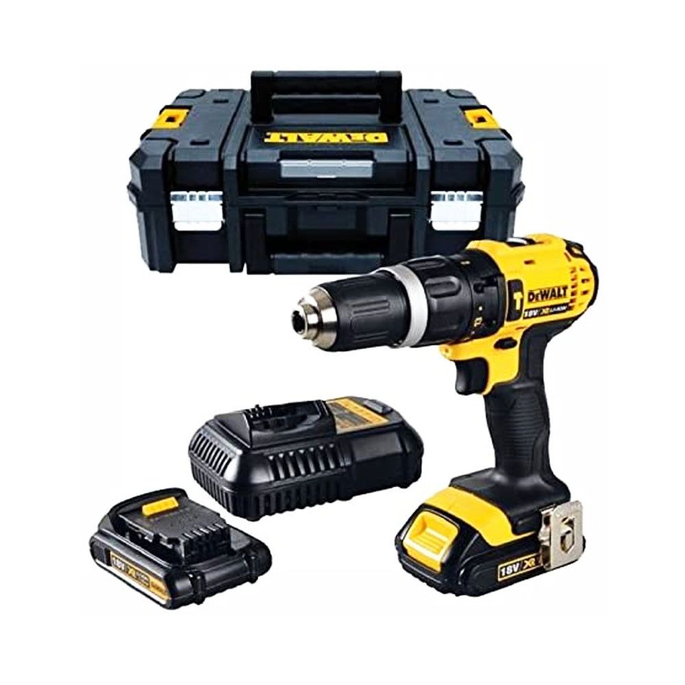 toptopdeal-Dewalt DCD776S2T 18v Lithium Combi Battery Drill (Latest TSTAK System) with 2 Batteries