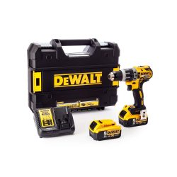 toptopdeal-Dewalt DCD796P2-GB DCD796P2 Combi Drill 18V XR Brushless Compact Lithium-Ion (2 x 5 0Ah Batteries) 18 V Yellow Black One size