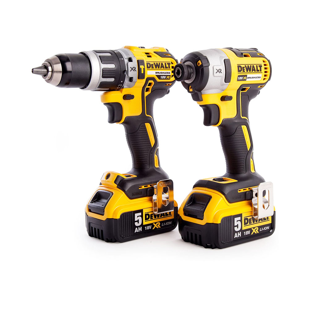 toptopdeal-Dewalt DCK266P2T-GB XR Combi Drill and Impact Driver Brushless Kit in TSTAK Box 1 W 18 V Yellow Black
