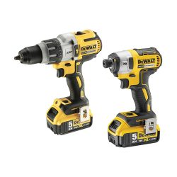 toptopdeal Dewalt DCK276P2-GB Combi Drill and Impact Driver XR 18V Brushless Kit