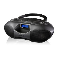 toptopdeal Duronic RCD6200 Bluetooth CD Player Boombox Black, Radio, Flash memory MP3 Playback, and Connect and play via AUX