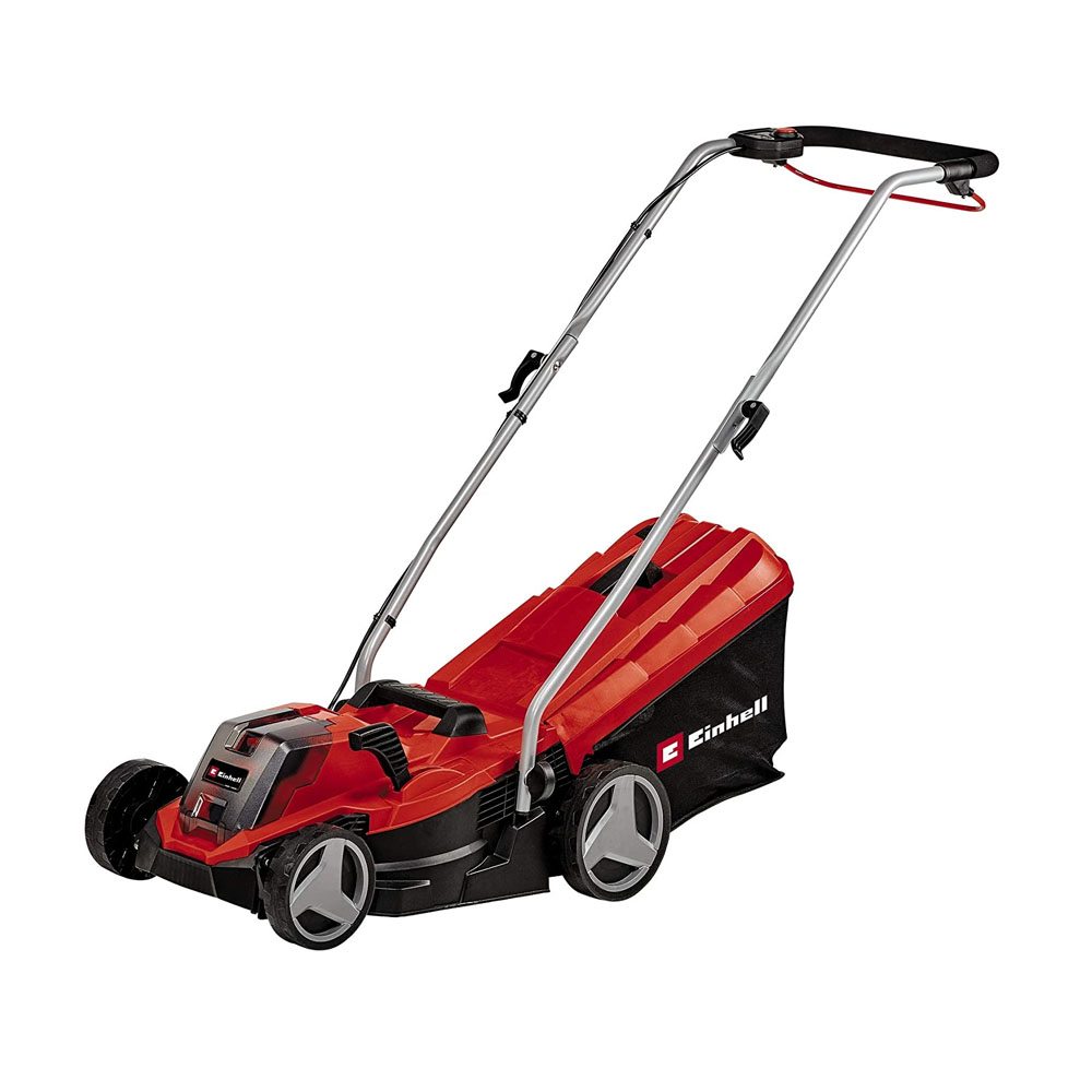 toptopdeal Einhell 3413266 Cordless Lawn Mower GE-CM 18-33 Li-Solo Power X-Change (li-ion- for Up to 200 m²- Brushless Motor- 5-Level Cutting Height Adjustment