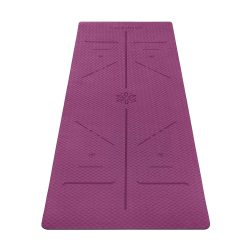 toptopdeal Ewedoos Eco Friendly Yoga Mat with Alignment Lines, TPE Yoga Mat Non Slip Textured Surfaces ¼-Inch Thick High Density Padding To Avoid Sore Knees