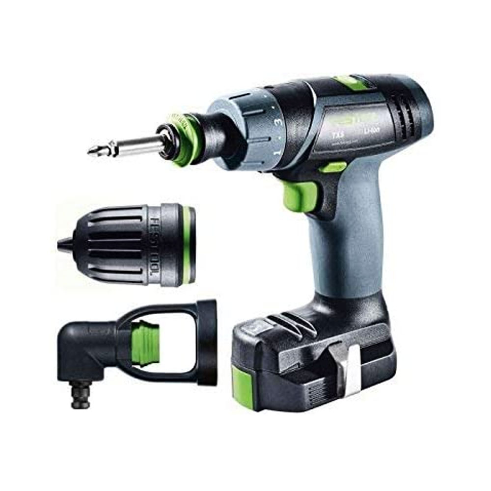 toptopdeal-Festool TXS TXS Li 2,6-Set – cordless combi drills (Lithium-Ion (Li-Ion) Black Green Grey)