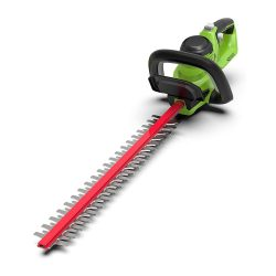 toptopdeal Greenworks Battery Hedge Trimmer G40HT (Li-Ion 40V 61cm Cutting Length 27 mm Tooth Spacing 3000 Cuts-min Adjustable Additional Handle Without Battery and
