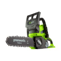toptopdeal Greenworks Tools Battery Chainsaw G24CS25 (Li-Ion 24V 4 m-s Chain speed 25 cm Sword Length 50 ml Oil Tank Volume Without Battery and Charger)