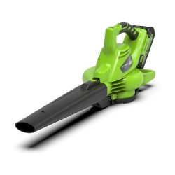 toptopdeal Greenworks Tools GD40BV Cordless Leaf Blower and Vacuum 2-in-1 (Li-Ion 40 V 280 km-hour Air Speed 45 -Bag Speed Control Powerful Brushless Motor withou