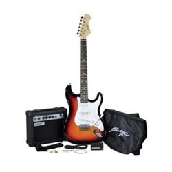 toptopdeal Johnny Brook Electric Guitar Kit With 15 W Amplifier And Accessories Sunburst