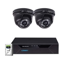 toptopdeal LONNKY 4CH Full HD 1080P Expandable Security Camera System- 5-in-1 Surveillance DVR with 1TB Hard Drive and (2) 2-0MP Waterproof Outdoor Indoor Dome Cameras