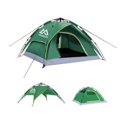 toptopdeal MOSODO Pop up Tent for 4, Double-Layer Design Allows 2 Tents be Used Separately,