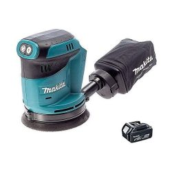 toptopdeal Makita DBO180Z 18V Li-ion Cordless Random Orbital Sander Body with BL1850 Battery