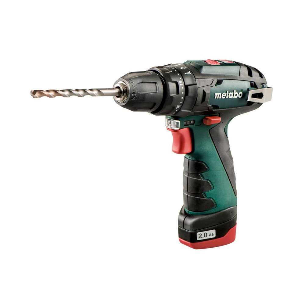 toptopdeal-Metabo 600080500 10 8 V Powermaxx BS Drill Driver with 2 x 2 A Batteries – Green Black