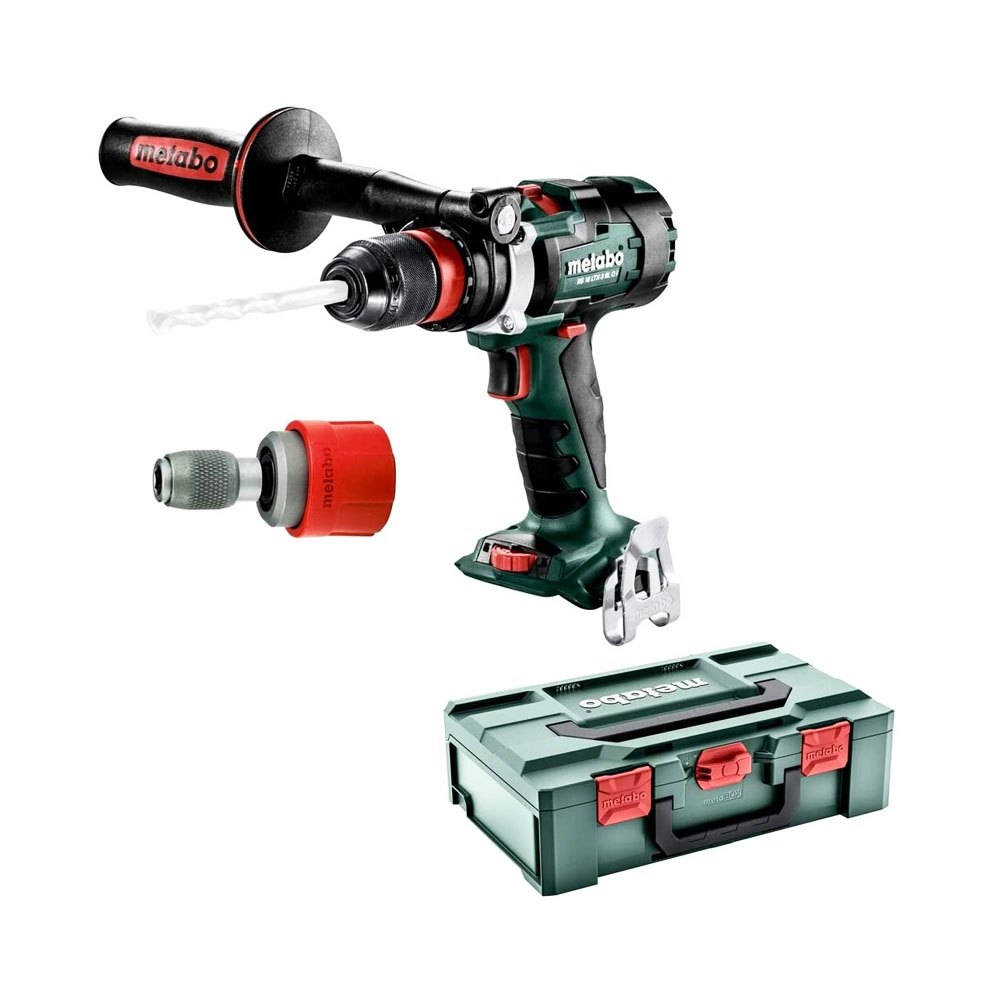 toptopdeal-Metabo BS 18 LTX-3 BL Q I Black,Green,Red Pistol Grip Drill 2100g – Cordless Combi Drills